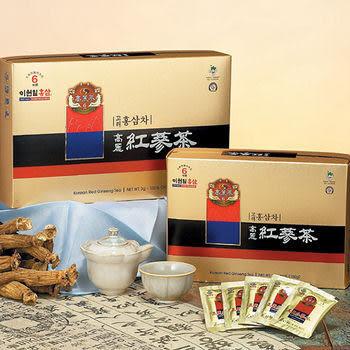 【品人生】韓國高研頂級六年根高麗紅蔘茶─3gx100包