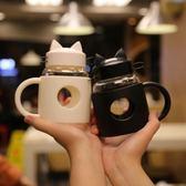 帶把玻璃杯隔耐熱杯子女學生韓版兒童隨手防摔可愛卡通水杯400ml-大小姐韓風館