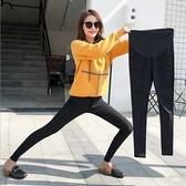 漂亮小媽咪 托腹褲 【PPW9063MI】純色 孕婦長褲 可調節 柔軟透氣 托腹 鉛筆褲 孕婦褲 高彈力托婦