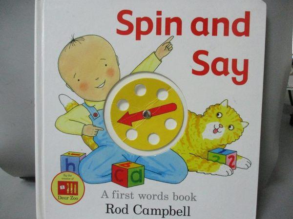 【書寶二手書T1/語言學習_QEP】Spin and Say: A First Words Book_Rod Campbell