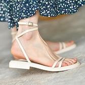 仙女風腳腕綁帶厚底舒適平底涼鞋女羅馬鞋2021夏季新款女鞋 黛尼時尚精品