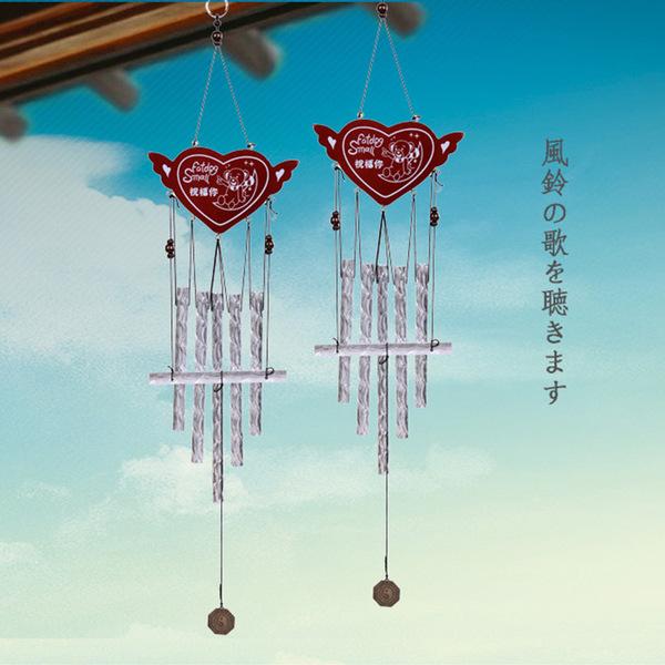 日式家居創意金屬管工藝品風鈴掛飾畢業禮物送同學老師閨蜜(生日快樂)─預購CH265