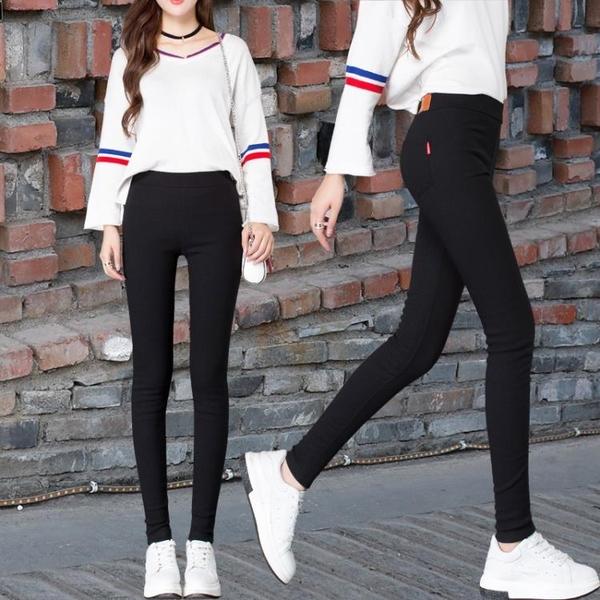 打底褲 內搭褲女外穿黑色正韓新款緊身小腳高腰鉛筆顯瘦夏季薄款九分