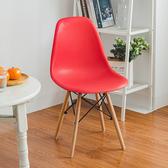樂嫚妮 北歐復刻辦公餐椅-紅紅