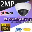 DH-SD22204UEN-GN 4倍2MP網路快速球攝影機 IP cam 大華dahua 監視器