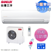 SANLUX台灣三洋9-11坪精品型變頻冷暖分離式冷氣 SAC-63VH7+SAE-63VH7~自助價