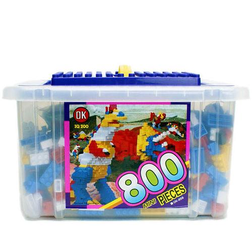 《 OK-858 》大收納箱益智基本顆粒積木組 800 pcs╭★ JOYBUS玩具百貨
