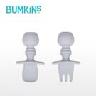 美國 Bumkins 寶寶矽膠湯叉組(灰色)