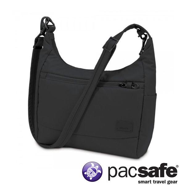 Pacsafe Citysafe CS100 休閒斜肩包-黑 側背包 旅遊 出國 防盜 20210100