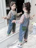 女童吊帶褲 女童吊帶褲套裝2019新款兒童洋氣秋裝5女孩67秋季兩件套8歲