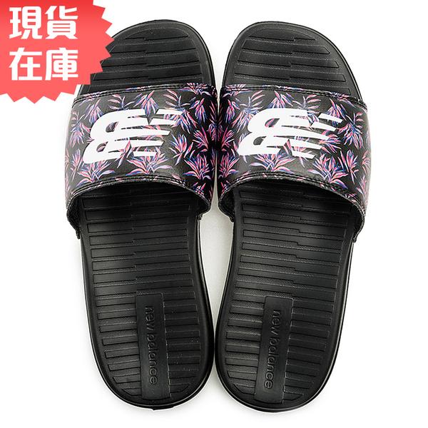 【現貨】New Balance 女鞋 拖鞋 休閒 輕量 花卉 迷彩 黑【運動世界】SDL130WK