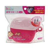 AKACHAN阿卡將 攜帶式圓形餅乾 置物盒-粉