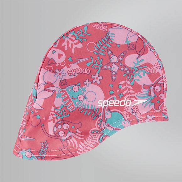 【線上體育】SPEEDO 兒童尼龍泳帽 Sea Squad 粉紅