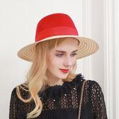 爵士帽-時尚拼接細麻撞色M字母女羊毛呢帽2色73tk8[巴黎精品]