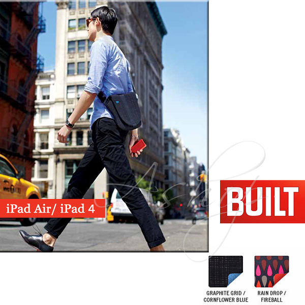 【A Shop】 BUILT NY iPadAir/iPad4 肩背防震保護包-A-D1MS系列共二色