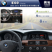 【專車專款】2005~2010年BMW E60專用8.8吋螢幕安卓多媒體主機*6核心PX6CPU