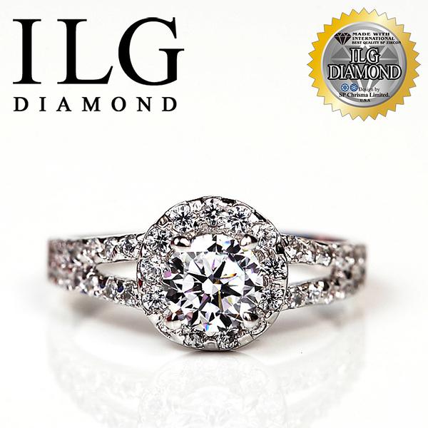 【ILG鑽】頂級八心八箭擬真鑽石戒指-倫敦戀人款-RI078 主鑽約75分 熱銷細緻珠寶款