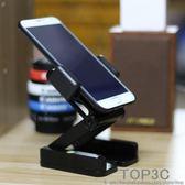 金屬折疊懶人手機桌面支架簡約快手直播便攜萬能視頻拍攝美甲俯拍「Top3c」
