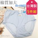 女性加大伸縮棉質內褲 /35吋~48吋腰圍適穿 超輕薄透氣 台灣製造 No.521 (5件組)-席艾妮SHIANEY