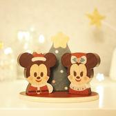Disney KIDEA 迪士尼益智平衡積木 小木塊 聖誕節特別組 米奇米妮