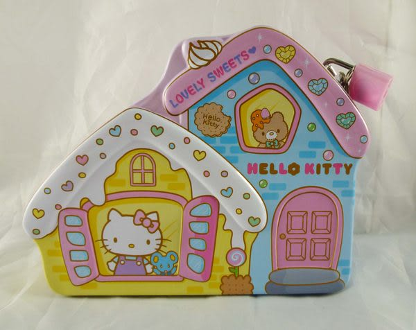 【震撼精品百貨】Hello Kitty 凱蒂貓~鎖匙存錢鐵盒『糖果屋』