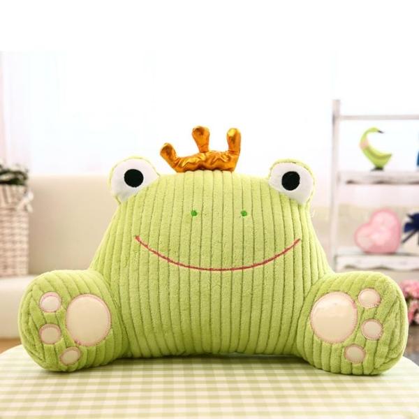 靠墊辦公室腰靠可愛卡通汽車靠背墊床頭沙發抱枕孕婦椅子護腰靠枕 七色堇