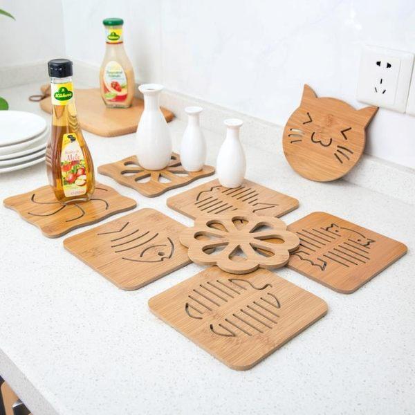 [超豐國際]木質卡通隔熱墊餐桌墊防滑鍋墊創意可愛墊子茶杯墊碗墊杯墊