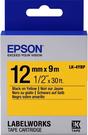 LK-4YBP EPSON 標籤帶 (黃底黑字/12mm) C53S654404