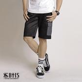 【BTIS】單寧拼接口袋短褲 / 黑色