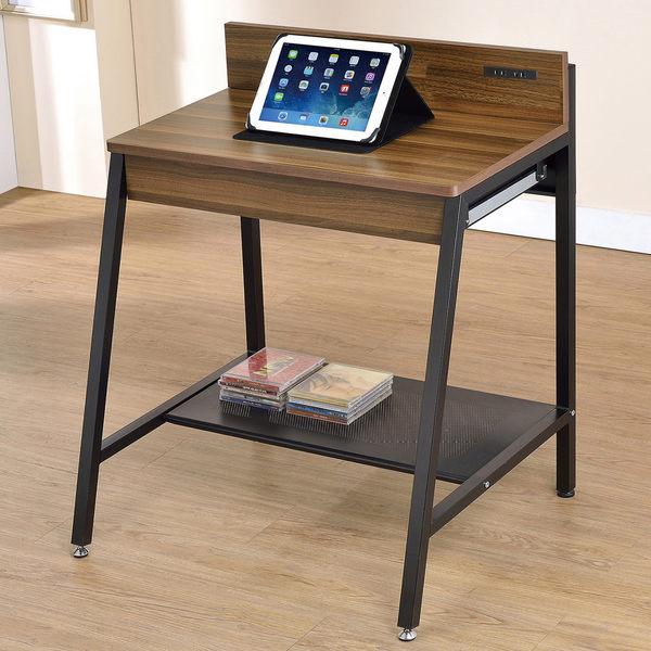【森可家居】小賈2.1尺胡桃兩用電腦桌 7JF384-1 書桌 工業風 木紋質感