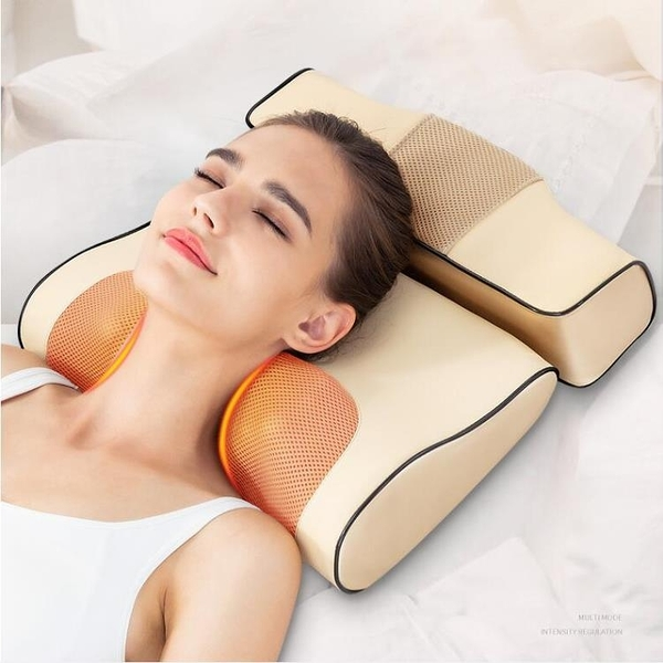 頸椎按摩器頸部肩部腰部多功能揉捏電動儀脖子頸肩背部家用神枕頭
