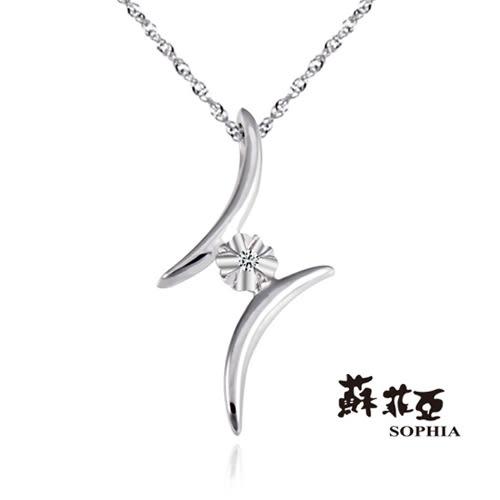 蘇菲亞SOPHIA - 花舞戀純銀項鍊