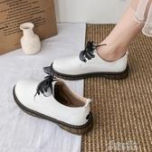 娃娃鞋文藝女鞋軟妹學生平底小皮鞋日繫復古英倫風 春季小白鞋學院風 雙十二免運