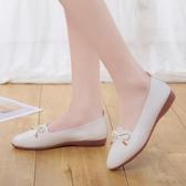 豆豆鞋 牛筋軟底春秋季鞋子一腳蹬平底鞋淺口單鞋女夏季豆豆鞋潮-Ballet朵朵