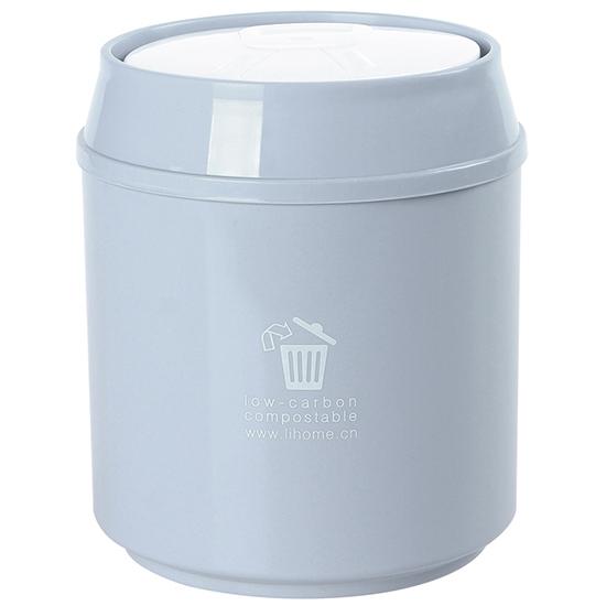 按壓式桌面垃圾桶 家用 客廳 創意 小垃圾桶 迷你 收納筒 素色 辦公室【A036-1】MY COLOR