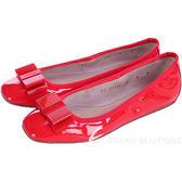 Salvatore Ferragamo MY  BEAUTY 紅色漆皮蝴蝶結造型平底鞋 1320351-54
