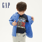 Gap男幼童 活力純色拼接袖拉鍊連帽外套 541997-航太藍