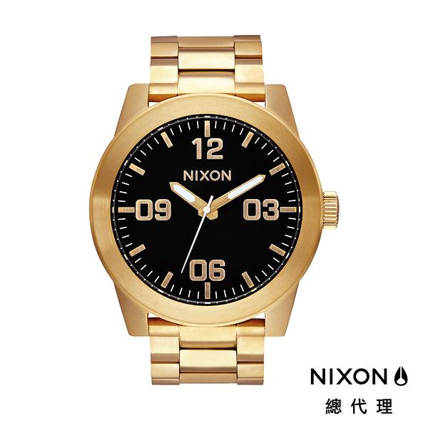 【官方旗艦店】NIXON CORPORAL 型男熱銷款 金黑 潮人必備 潮人態度 禮物首選