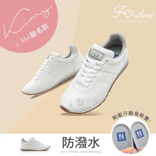 慢跑鞋.防潑水拼接慢跑鞋(白)-大尺碼-FM時尚美鞋-kimy x Neutral.Bloom