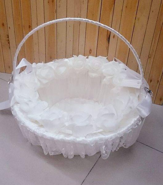 純白玫瑰喜糖籃   婚禮小物【皇家結婚用品】