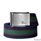 TALERF多彩條紋配色棉織帶(深藍/紅/綠)/共3色-情侶 /帆布 皮帶/台灣製造