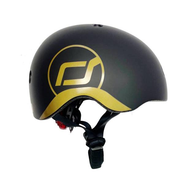 奧地利 Scoot & Ride 兒童運動用頭盔|防護帽-黑金|cool飛