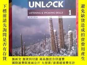 二手書博民逛書店劍橋中學英語教材罕見Unlock Level 3 1l 兩本合售Y14465