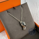 BRAND楓月 HERMES 愛馬仕 925純銀 馬頭造型 項鍊 墜鍊 配件 配飾 飾品 隨身飾品