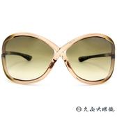 TOM FORD 墨鏡 TF9 (透棕) 8字交叉框面 大框 太陽眼鏡 久必大眼鏡