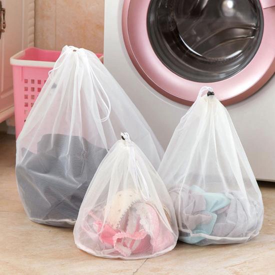 洗衣袋 洗衣網 小 收納袋 分類袋 抽繩袋 洗衣機 護洗袋 內衣袋 加厚束口洗衣袋 【J093】MY COLOR
