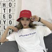 韓版字母刺繡大檐漁夫帽子百搭休閒男女日繫復古遮陽帽  朵拉朵衣櫥