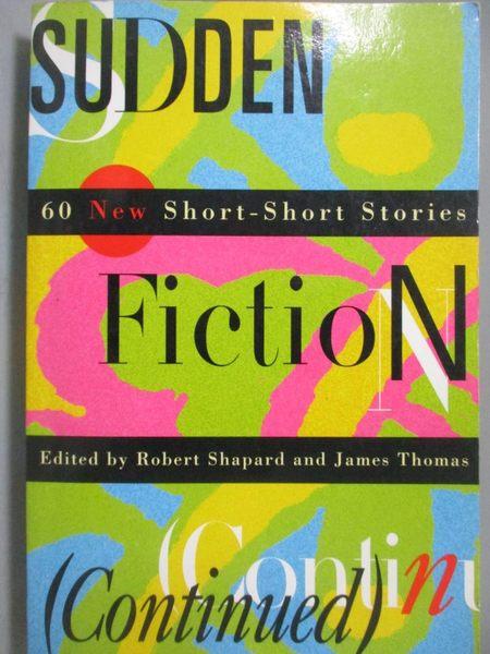 【書寶二手書T9/原文小說_OHM】Sudden Fiction_Shapard, Robert (EDT)/ Thom