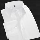 襯衫 七多男士襯衫修身正韓秋季商務免燙素色襯衣職業正裝白襯衫男長袖