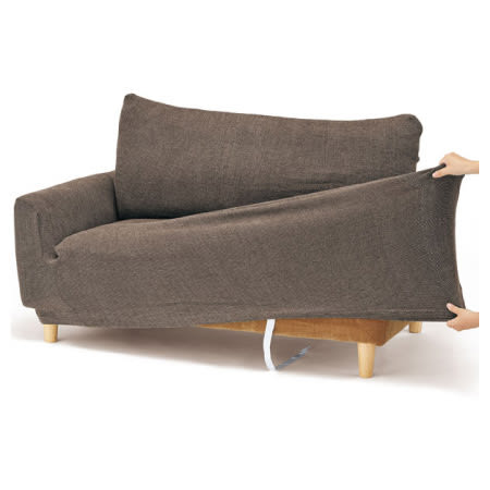 2人用伸縮式沙發套 CHENI-BR 2P NITORI宜得利家居